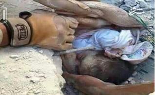 مین گذاری نوزاد 40 روزه توسط داعش در فلوجه+عکس