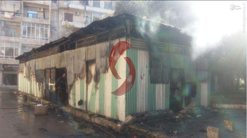 گلوله باران سه منطقه حلب توسط تروریستها+فیلم و عکس