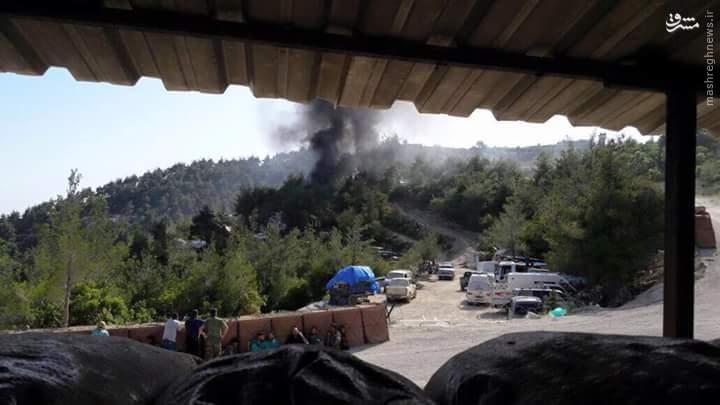 بمباران اردوگاه آموزشی القاعده در شمال لاذقیه+عکس