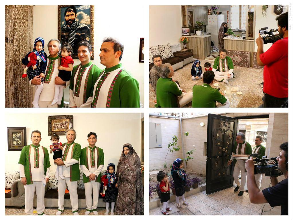 عکس/ عموهای فتیلهایها در منزل شهید مدافعحرم