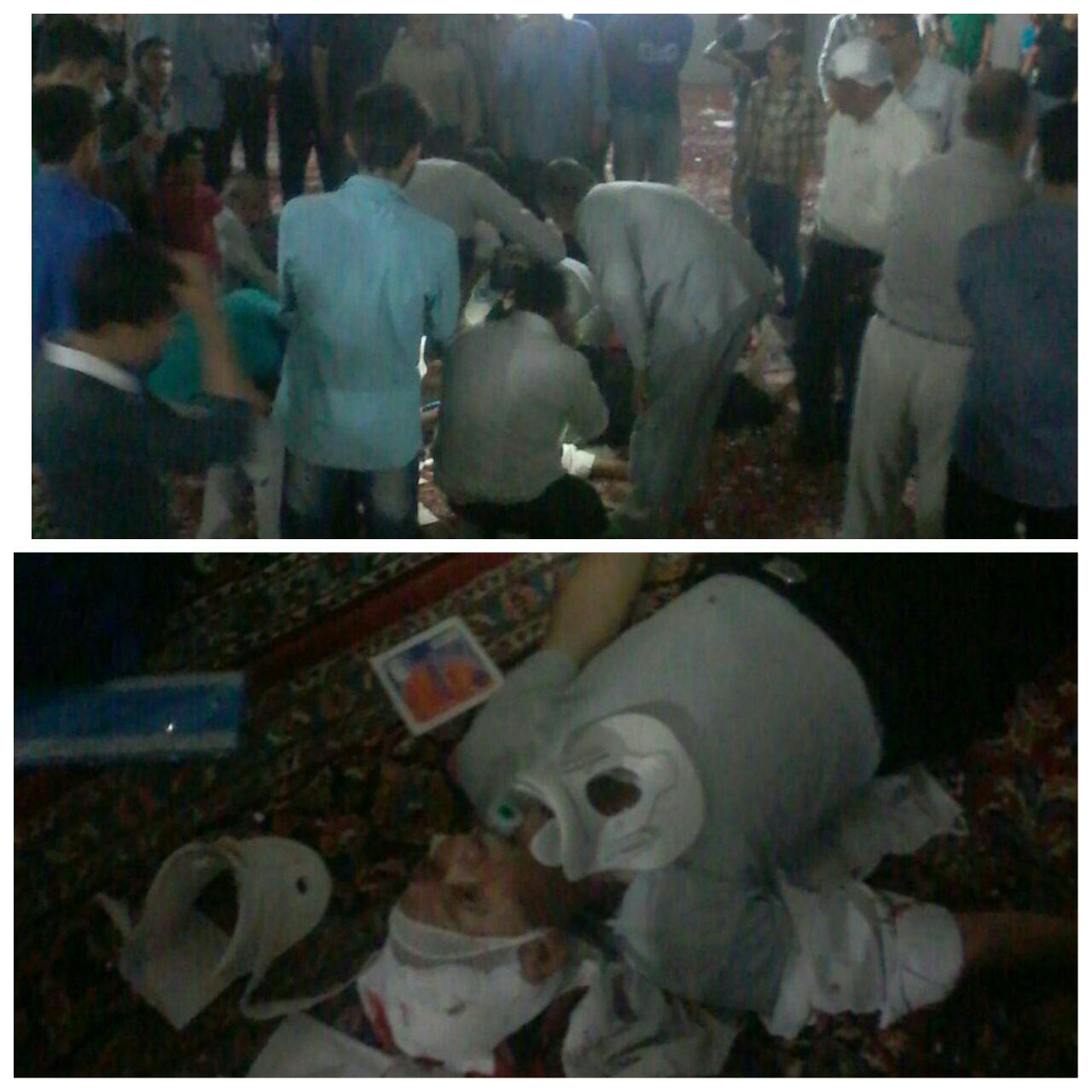 در ریزش سقف مسجدی یک نفر کشته و چهار نفر مجروح شدند +عکس