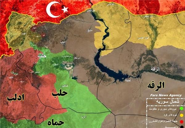 ماراتن سوریها و داعش برای کنترل «عفرین» +نقشه