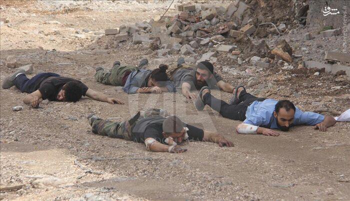 تسلیم شدن 5 تروریست پ.ک.ک به ارتش ترکیه+عکس