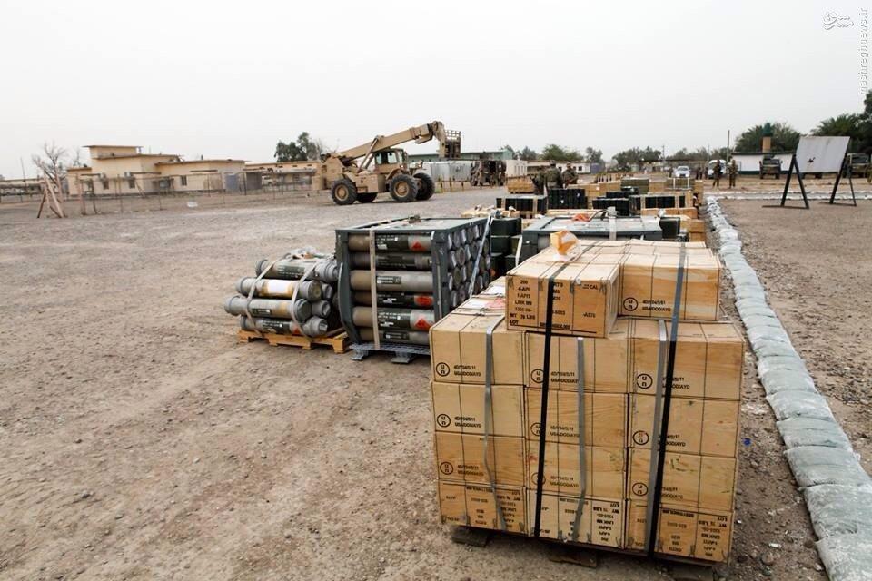 تحویل قطره چکانی مهمات توسط آمریکا به ارتش عراق+عکس