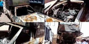 2 کودک در آتش وانت زنده زنده سوختند