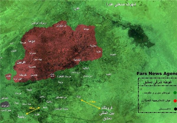 موفقیتهای جدید ارتش سوریه در غوطه شرقی دمشق