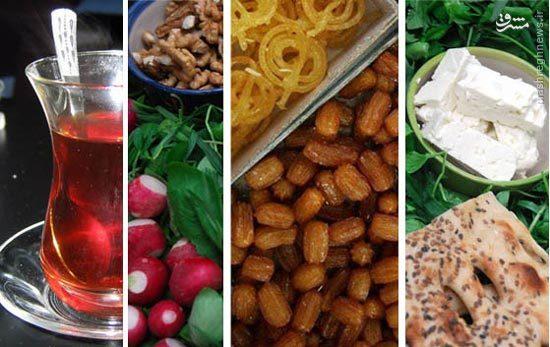 بهترین رژیم غذایی برای افطار و سحر چیست؟