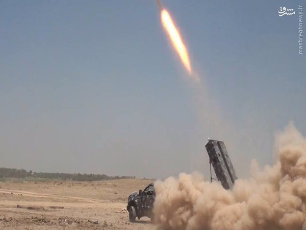 ورود موشک عقاب به نبردهای فلوجه+عکس و فیلم