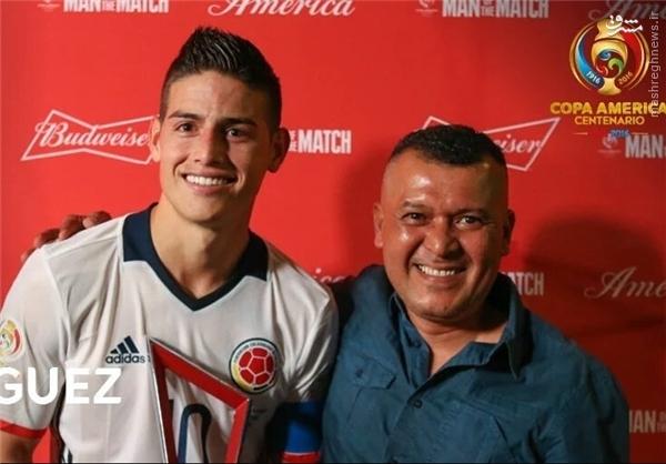 عکس/ بهترین بازیکن دیدار کلمبیا - پاراگوئه