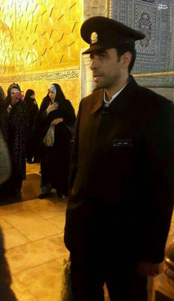 عکس/ داور مطرح در لباس خدام امام رضا(ع)