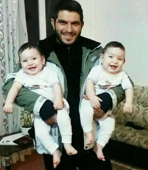 عکس/ فرزندان دوقلوی شهید مدافع حرم