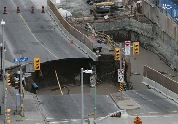 عکس/ نشست زمین در نزدیکی پارلمان کانادا