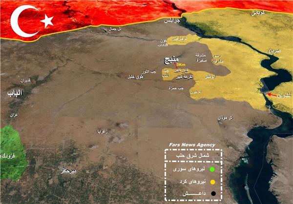 اخبار عملیات کردهای سوریه برای آزادسازی «منبج» حلب +نقشه