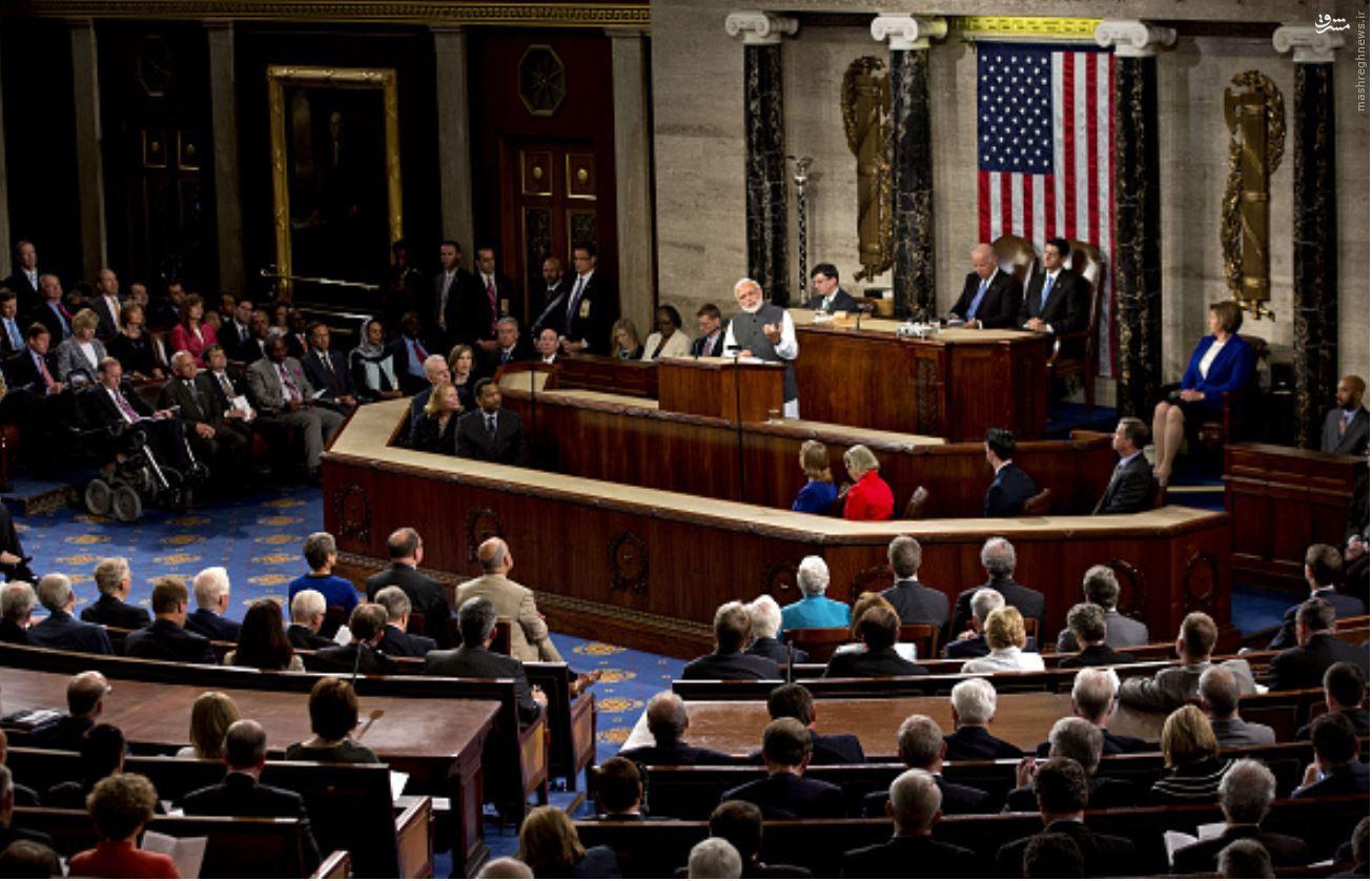 شاهکار مودی در کنگره آمریکا