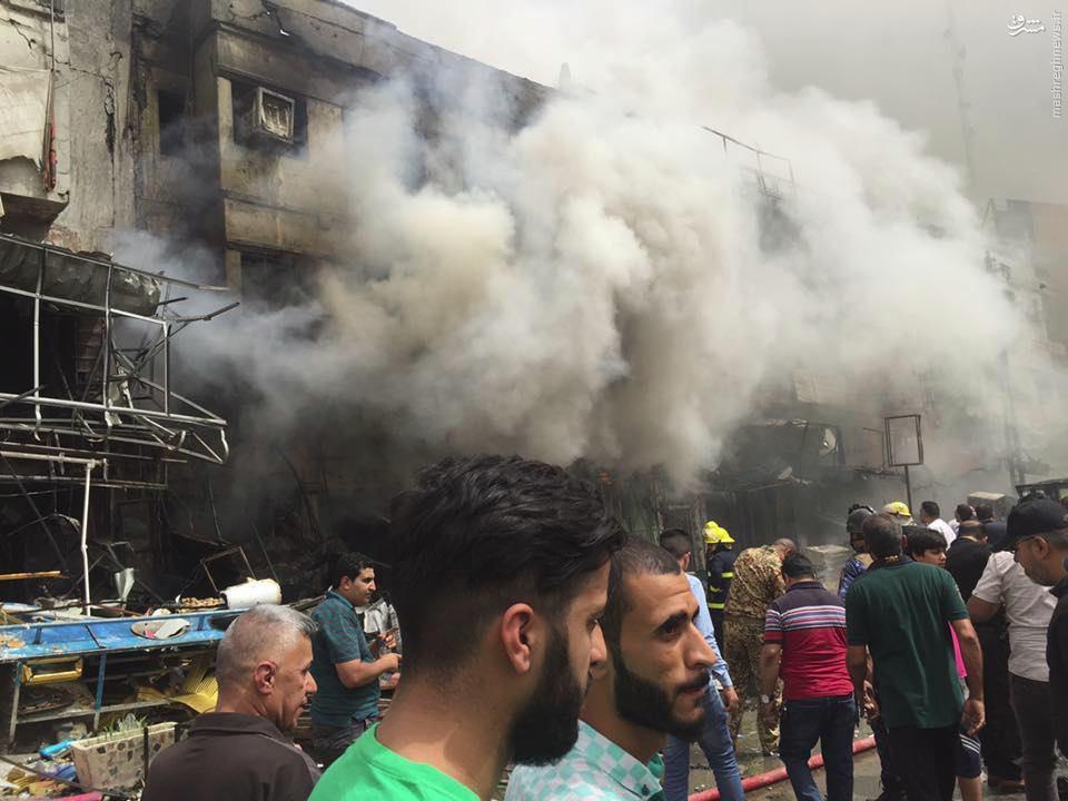 دو انتحاری پی در پی در بغداد+عکس و فیلم