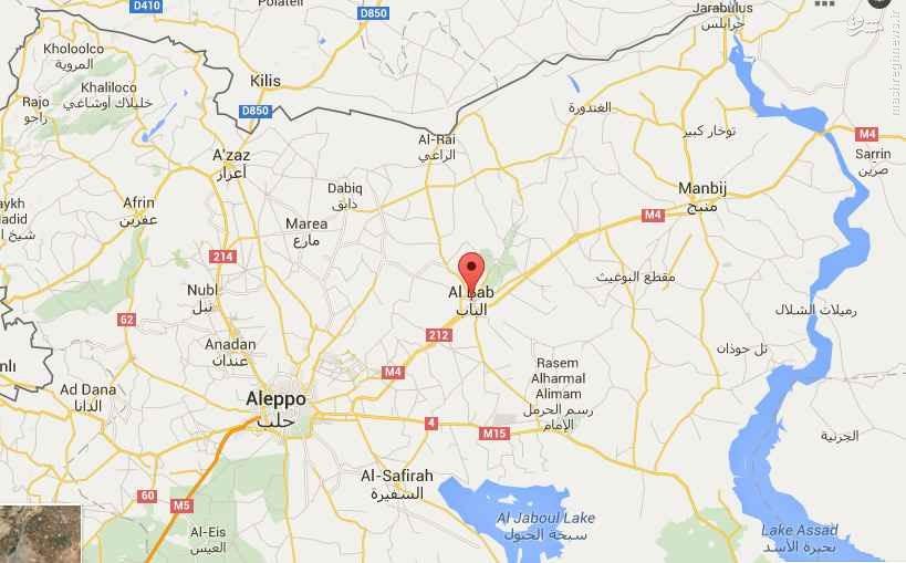 خیز رقبای داعش برای سیطره بر باب حلب+نقشه