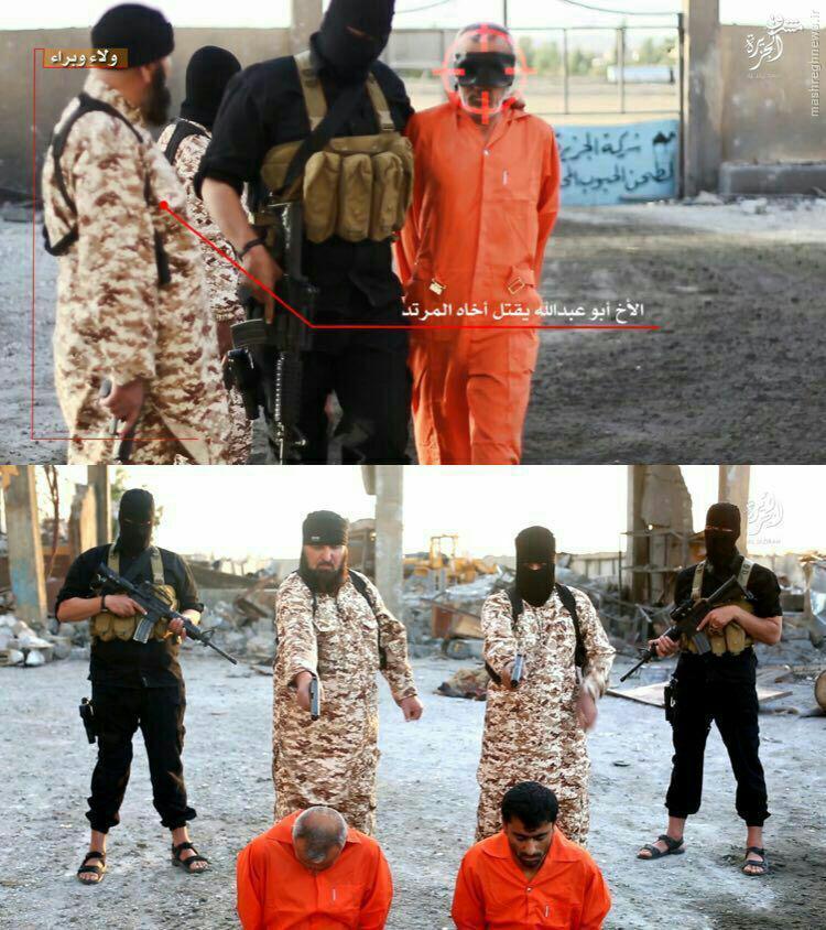 اعدام برادر توسط تروریست داعشی+عکس