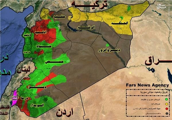 درگیریهای اصلی در کجای سوریه است؟ +نقشه