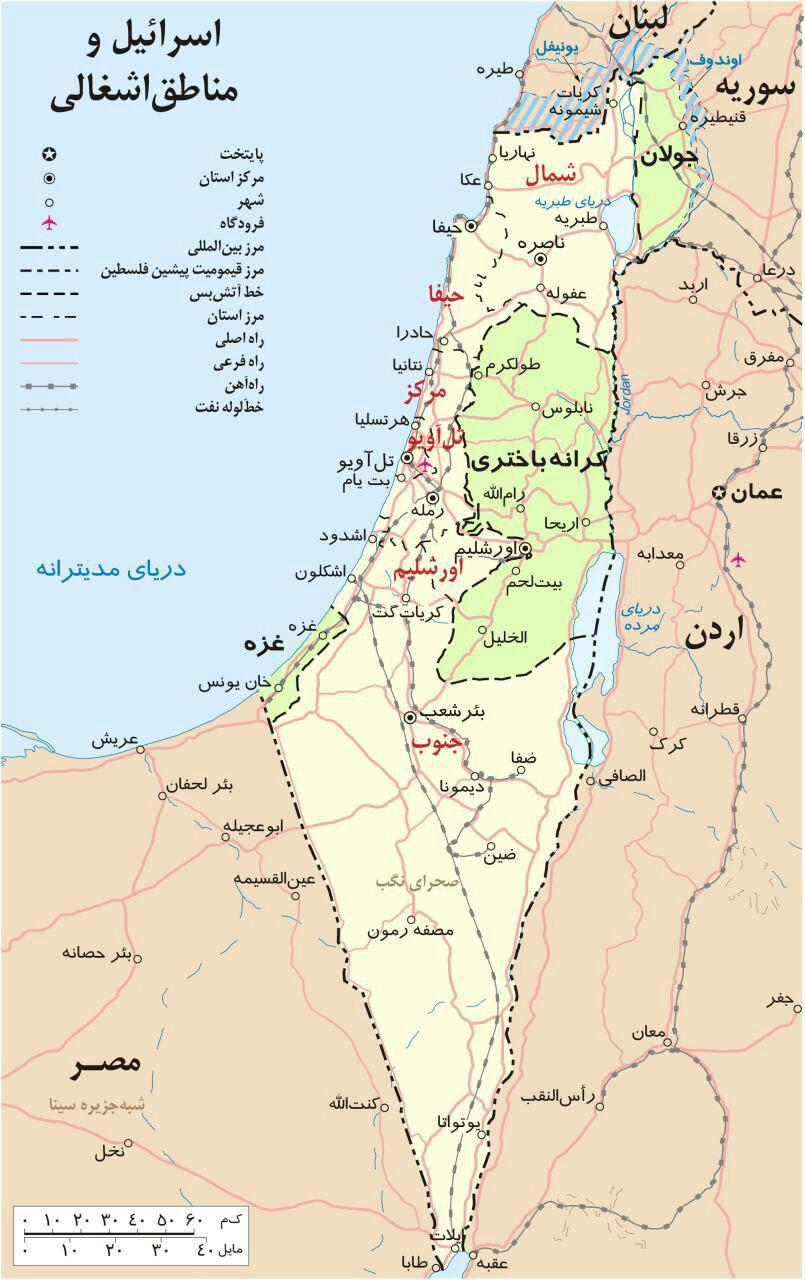 اسرائیل چگونه در 10دقیقه نابود می شود؟ +نقشه