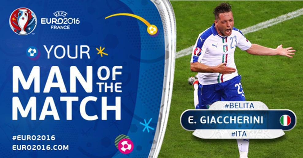 عکس/ بهترین بازیکن دیدار ایتالیا - بلژیک