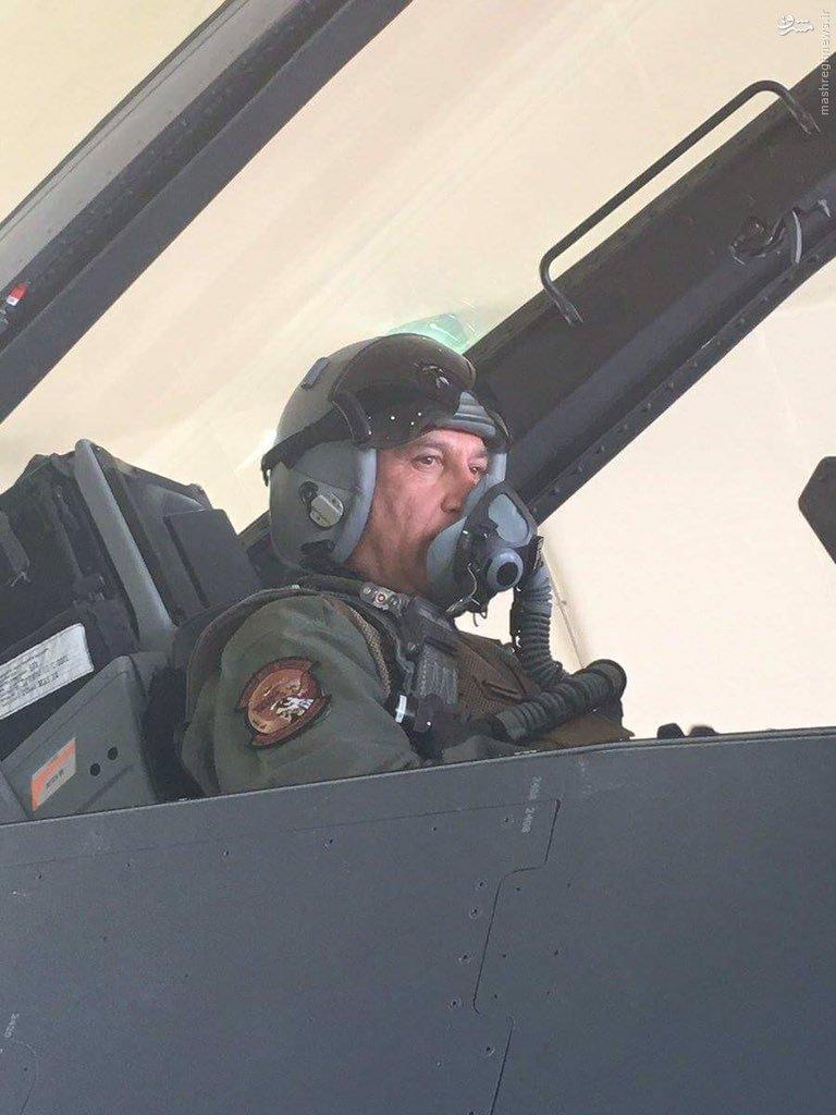 بمباران داعش در فلوجه توسط وزیر دفاع عراق+عکس و فیلم