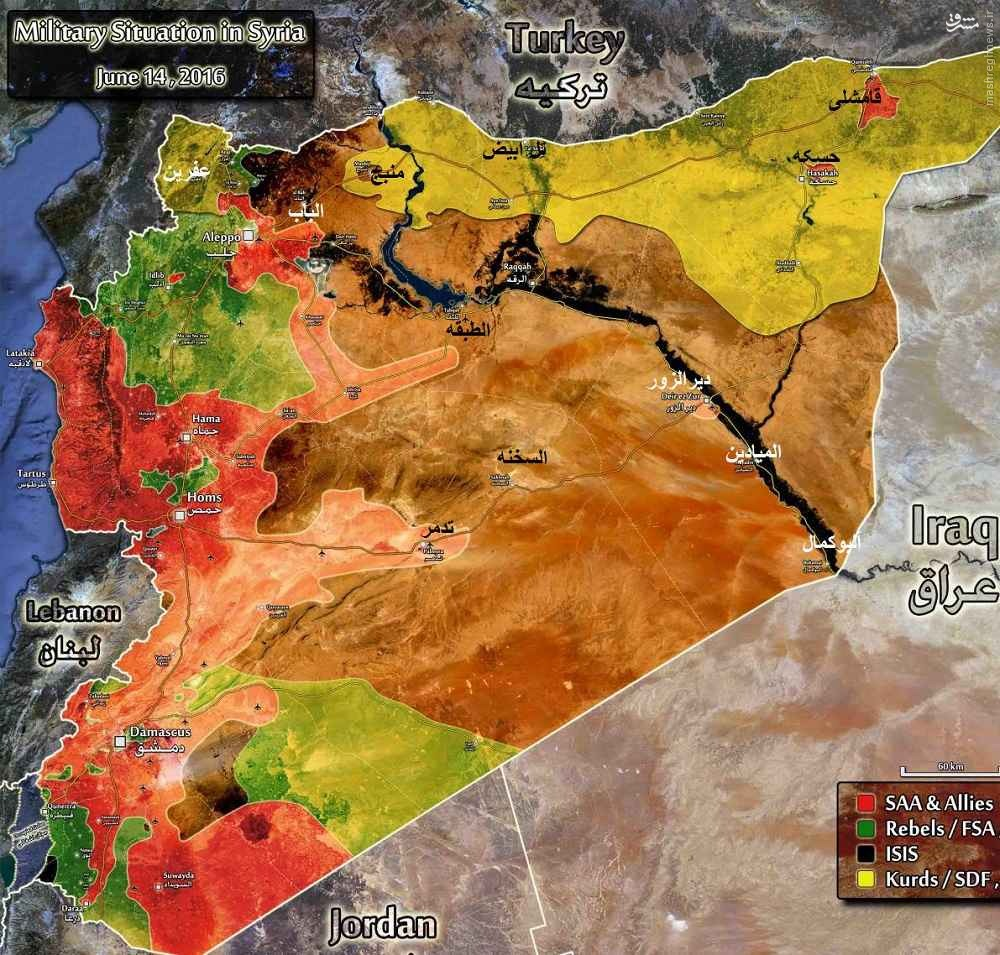 شکست هجوم تروریستها به خلصه/قراصی اشغال شد/پیشروی ارتش در لاذقیه/زبدانی در آستانه تخلیه از تروریسهای خارجی/درگیری های شدید در غوطه شرقیه