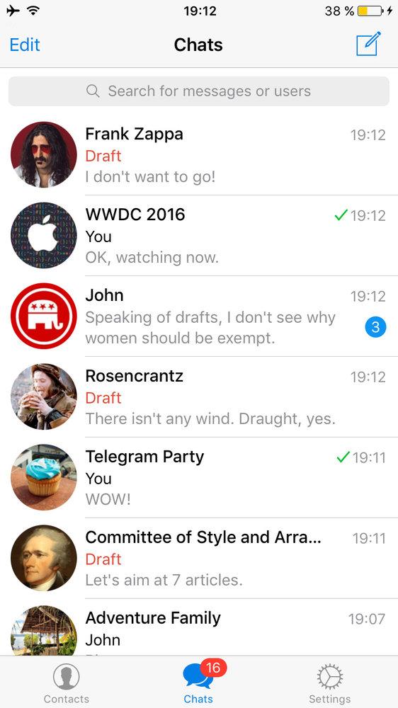 قابلیتهای جدید در نسخه جدید تلگرام