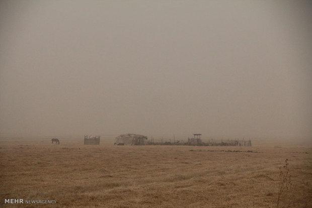 نیمه غربی ایران در غبار فرو رفت +تصاویر