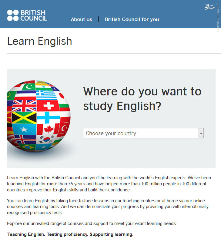 موسساتی که بر پایه دیپلماسی عمومی و نفوذ، زبان انگلیسی میآموزند