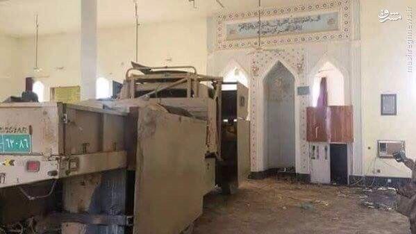کشف کامیون بمبگذاری شده داعش در مسجد فلوجه+عکس