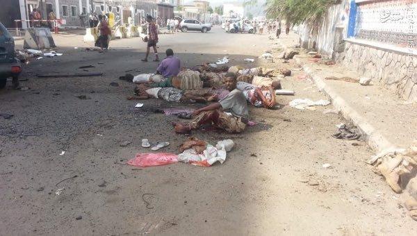 45 کشته در انتحاری خونین داعش به جنوب یمن+عکس