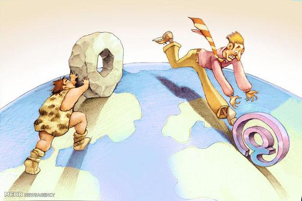 کاریکاتور/ تحول در دنیای مدرن