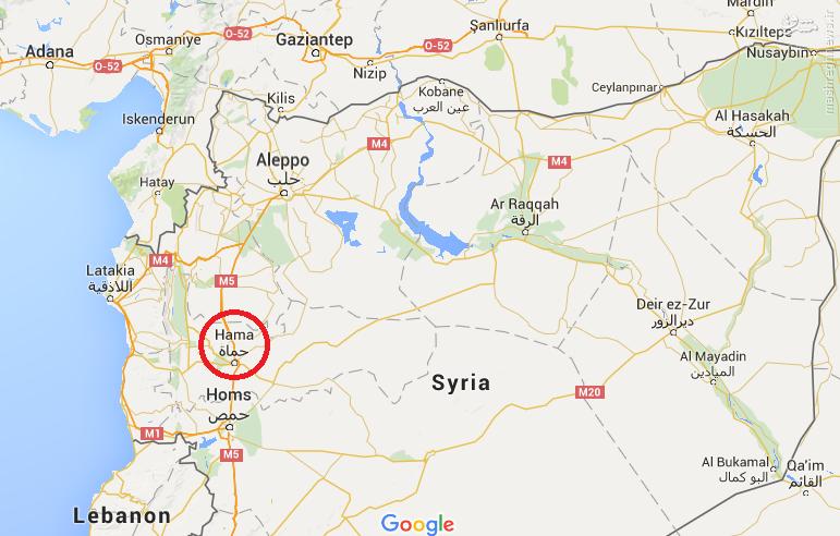سقوط جنگنده سوری در حماه+عکس