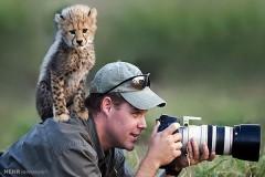 عکس/ پشت صحنه عکسهای حیوانات