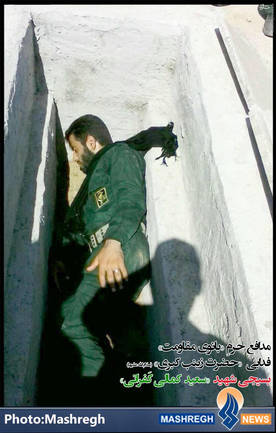 عکس/ شهید «خان طومان» در قبر