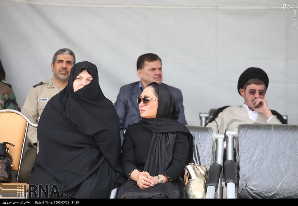 تشییع پیکر همسر شهید سرلشکر بابایی