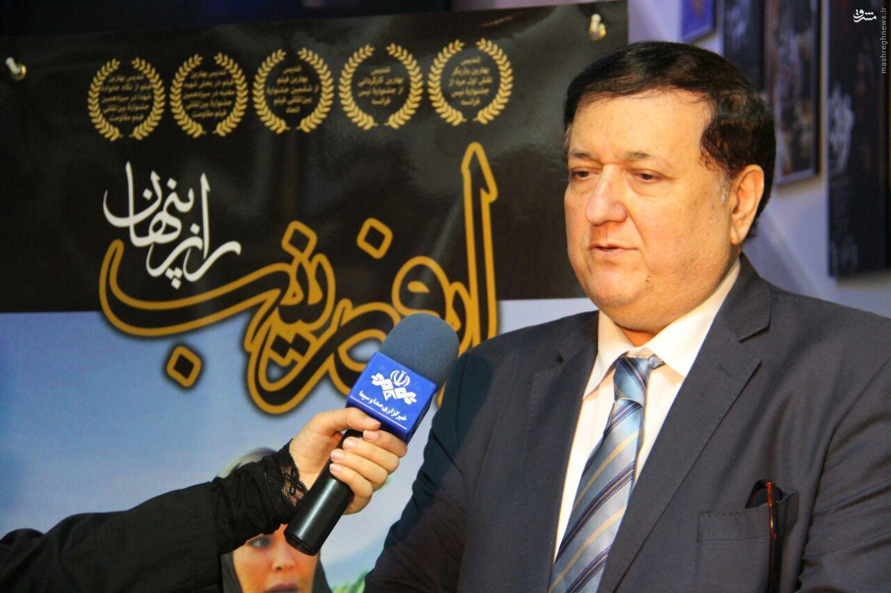 فیلمساز ایرانی، اشک سفیر فلسطین را درآورد+گزارش تصویری