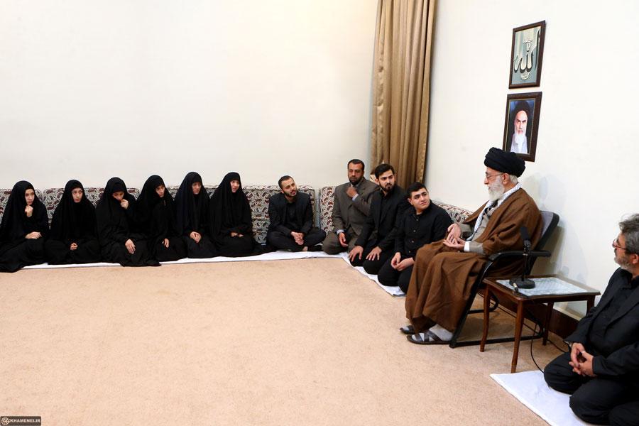 خانواده شهید بدرالدین با رهبر انقلاب دیدار کردند