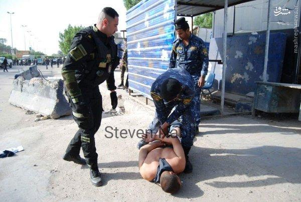 اعطای مدال شجاعت به پلیس فداکار عراقی+عکس