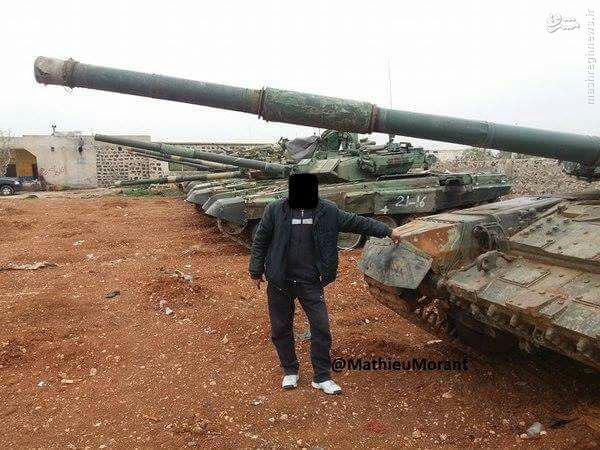 کاروان تانک های تی 90 وارد حلب شد+عکس