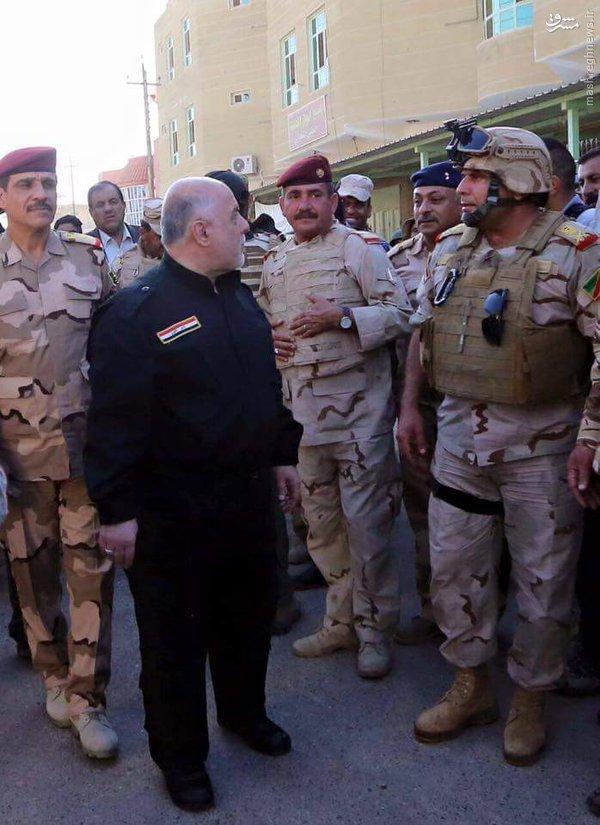 بازدید نخست وزیر عراق از مناطق آزاد شده فلوجه+عکس