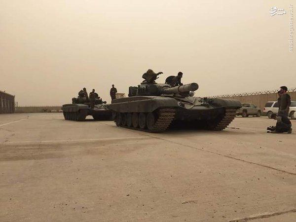 کاروان تسلیحات سنگین ارتش عراق در راه فلوجه+فیلم و عکس