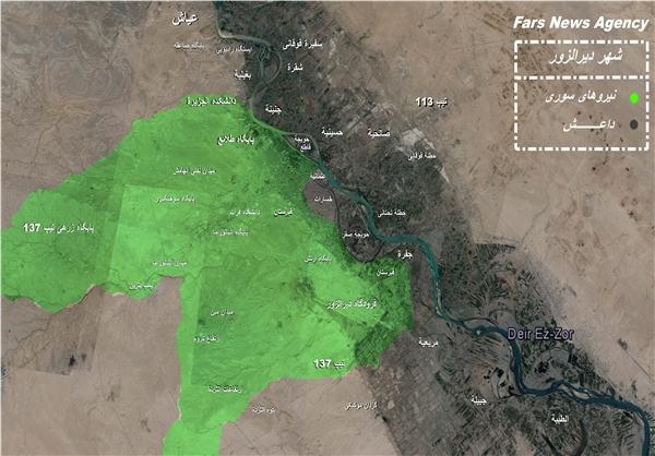 آخرین وضعیت شهر دیرالزور سوریه +نقشه