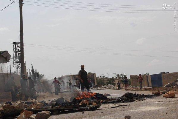 درگیری ساکنین ادلب با القاعده+عکس