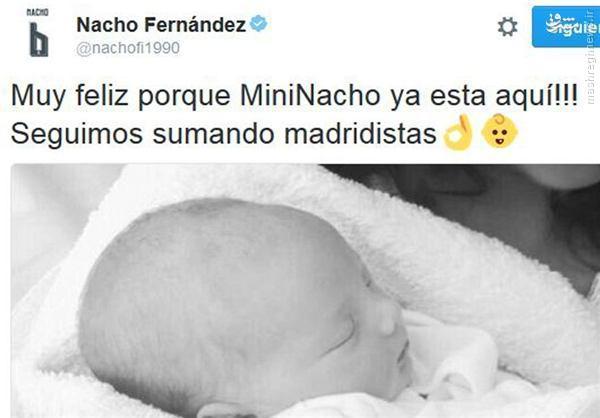 عکس/ تولد فرزند ستاره رئال در آسنانه فینال لیگ قهرمانان