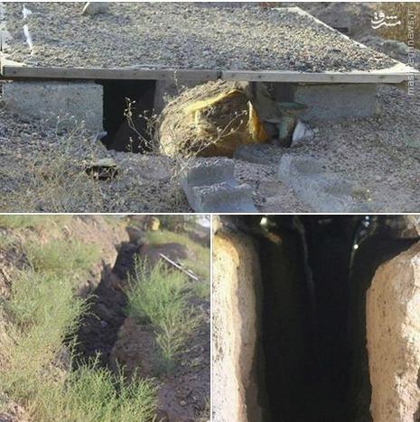 کشف سومین تونل داعش در فلوجه+فیلم و عکس