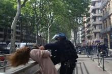 فیلم/ گلوی زن فرانسوی در چنگ پلیس
