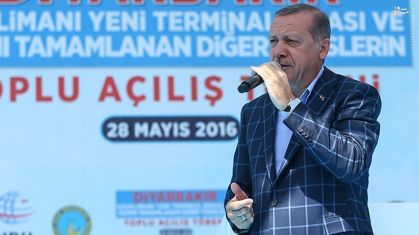 حواشی سفر اردوغان به دیاربکر ترکیه+عکس