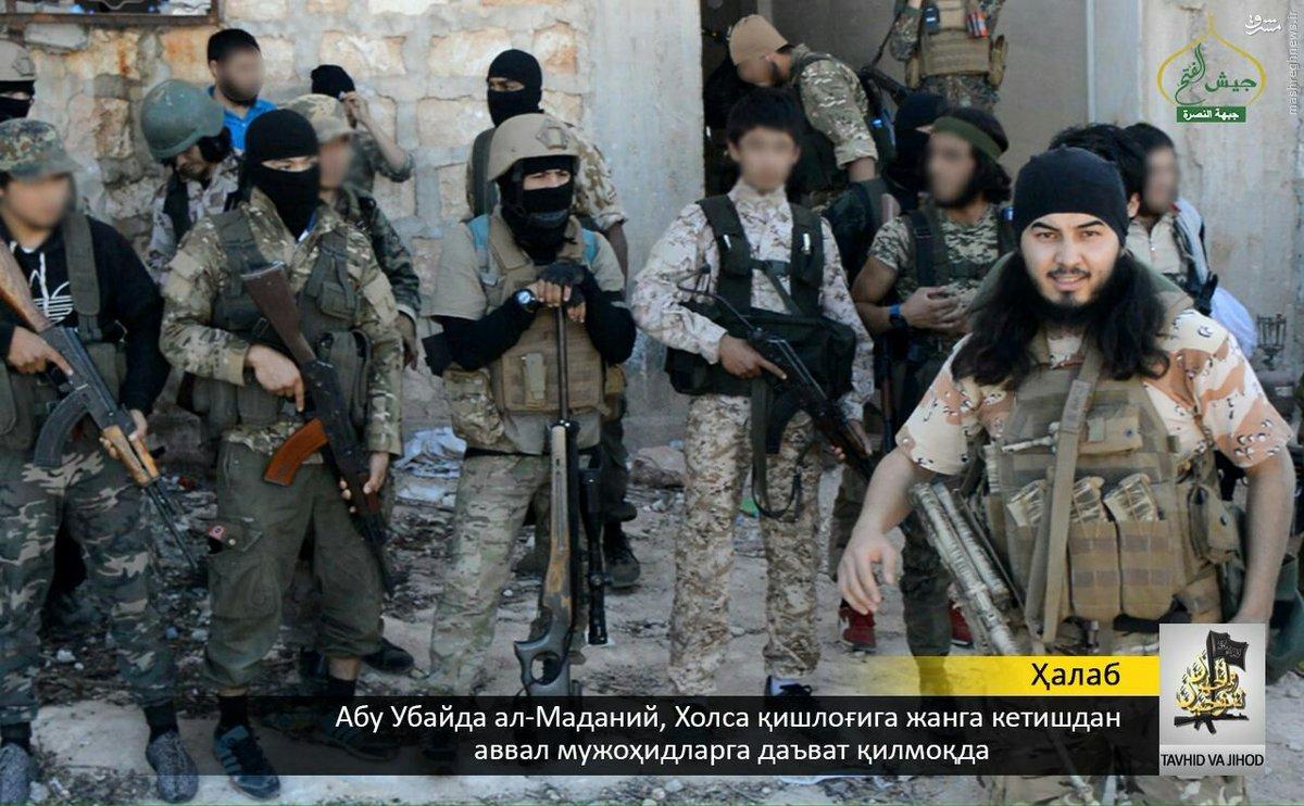 مشارکت تیپ ازبکستانی القاعده در نبردهای جنوب حلب+عکس