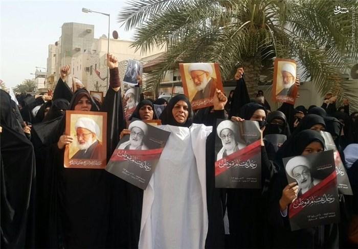 بحرین در آستانه انفجار امنیتی/ هزاران کفن پوش مقابل منزل شیخ قاسم +عکس و فیلم